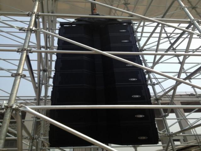 XYCAD 稀客音响大型线阵列扬声器系统闪耀2013广州科展PK台